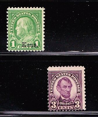 US.1,3C  KANS.OVERPR.MNH-POST OFFICE FRESH cv $42.5