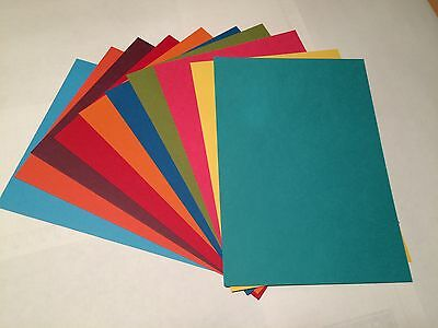 Stampin Up! Brights A5 Cardstock Sample pack - 10 sheets