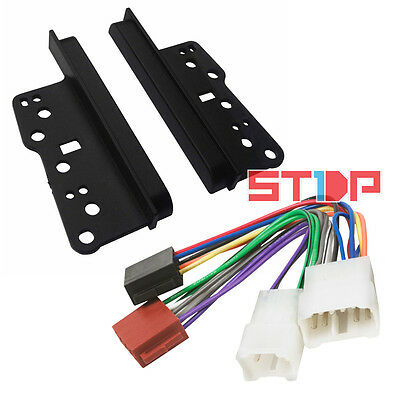 TOYOTA KLUGER 2003-2006 DOUBLE-DIN SIDE TRIMS + ISO WIRING HARNESS facia fascia