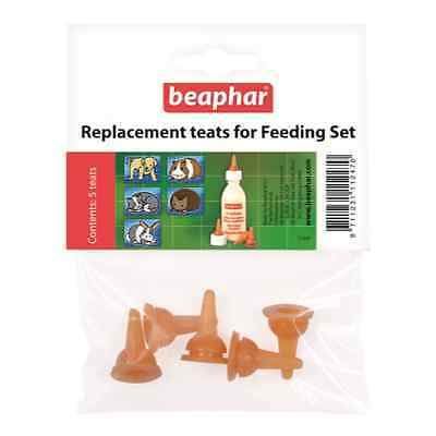 Beaphar lactol replacement teats pack of 5 puppy kitten milk weaning spare