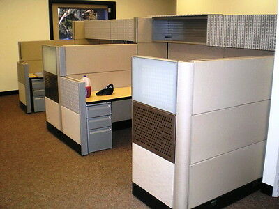 Office Partition Cubicles - 4 Connected - Local Pickup in City of Commerce, CA