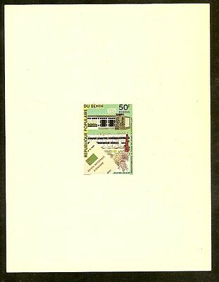 Benin Proof for 1979 50 Francs Multicolored 20th Anniversary of Posts