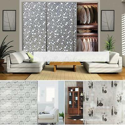 2m PVC Frosted Privacy Frost Home Bedroom Bathroom Glass Window Film Sticker