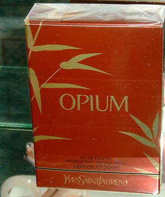 YVES SAINT LAURENT OPIUM EAU DE TOILETTE 50ML SPRAY NEW/NUOVO