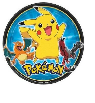 "Pokemon Birthday Party 9"" Dinner Plates, pack of 8, Pikachu"