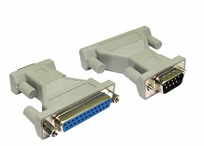 9 Pin Serial RS232 DB9 male to DB25 Pins Female AT Parallel Adapter Converter