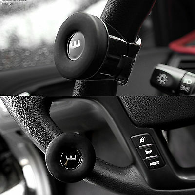 Silicon Flat Black Power Handle Car Steering Wheel Spinner accessory Slim Knob