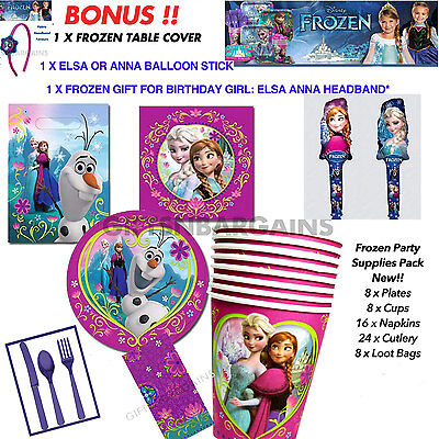 Disney Frozen Birthday Party Table Supplies Girls 64Pc/balloon/gift/t.cover
