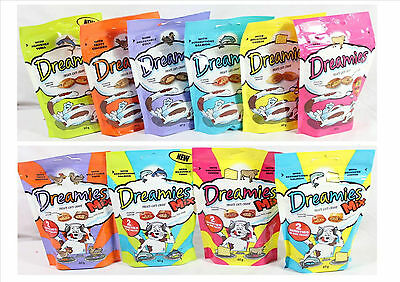 Dreamies Cat Adult Kitten Treats Food Complete Soft Crunchy Treats All Flavours
