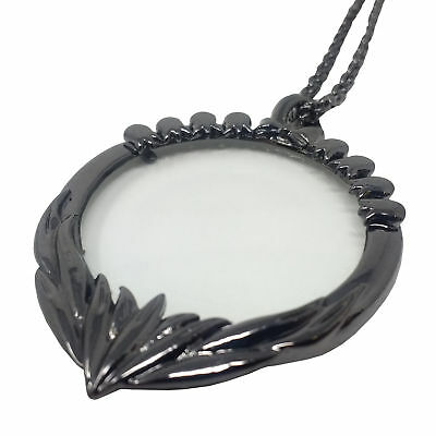 Handy Necklace Pendant Magnifing Glass - Magnifiation Magnifier for Reading