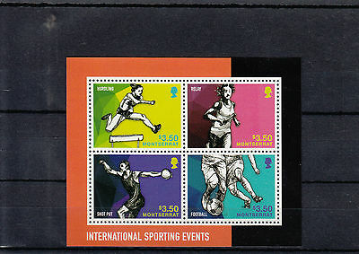 Montserrat 2014 MNH International Sporting Events 4v M/S Sports Football