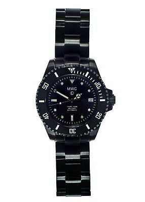 MWC 24 Jewel Automatic Military PVD Submariners/Divers watch on PVD wristband