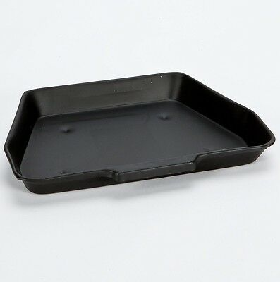 "Black 11"" Metal Ash Collect Pan Tray - 16"" Coal Stove Fire Grate Fireplace 617"