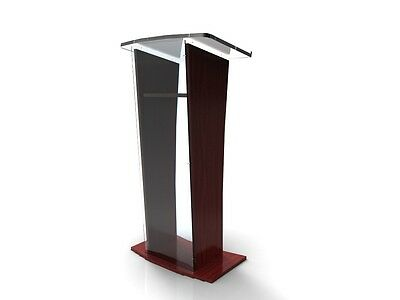 Acrylic/Podium/Lectern/Pulpit/Plexiglass/Lucite/clear 1803-5 Wood Shelf Frame