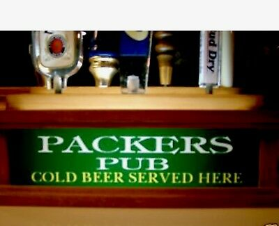 RAIDERS 7 beer tap handle display LED LIGHTED BAR SIGN BUILT IN REMOTE CONTRL