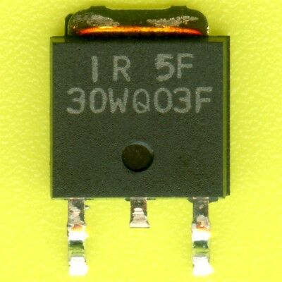 2500× 30WQ03F SCHOTTKY DIODE 30V 3.3A 0.62Vf POWER RECTIFIER TO252 SMD SMT DPAK
