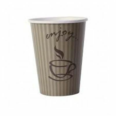 8/9oz Enjoy Single Wall Hot Cup (100) Coffee Cup, Disposable Takeaway Cup