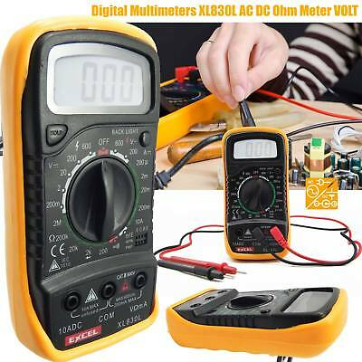 Digital LCD Multimeter AC DC Voltmeter Ammeter OHM Circuit Checker Tester Buzzer