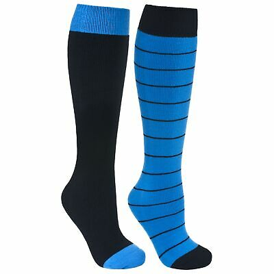 Trespass  Toppy Mens Ski Tube Hiking Casual Socks Longer Length 2 Pair Pack