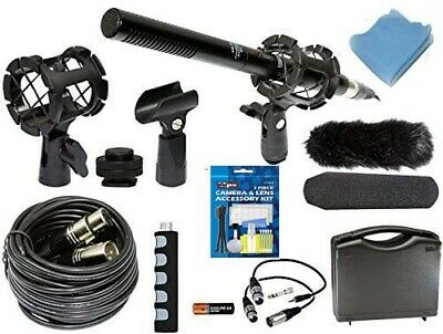 XM55 19-Piece Professional Video & Broadcast Condenser Shotgun Microphone Kit