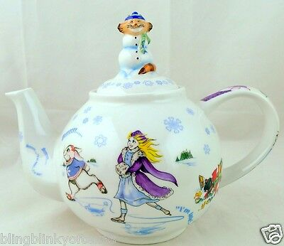 Alice in Wonderland Teapot Cheshire Cat Lid 48 oz. New In Box Paul Cardew