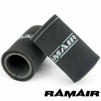 RAMAIR 2 x Single Carb Velocity Stack Foam Sock Air Filters Dellorto DHLA & DRLA