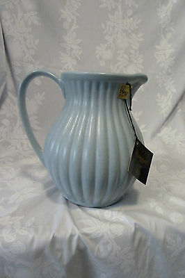 Royal Haeger ceramic pitcher Made.in USA in 2001 Robin egg blue, w/tiny speckles