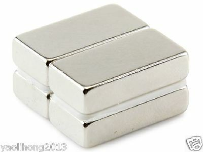 10PCS N52 Super Strong Block NdFeb Magnets Rare Earth Neodymium 20 x 10 x 5 mm