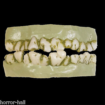 Scary Rotting Cosplay ZOMBIE MONSTER DENTURE Costume Prop Accessory Horror Teeth