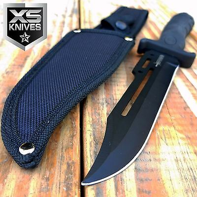 "10.5"" MILITARY Fixed Blade Hunting Tactical COMBAT SURVIVAL KNIFE BOWIE w/Sheath"