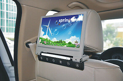 "9"" Digital LCD Screen Headrest Car DVD Player Monitor MP5 USB SD Player IR Gray"