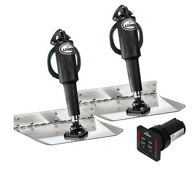 "Lenco Trim Tabs 4 Boat 12 volt 9'x12"" LED Complete Kit with Auto Retract New"