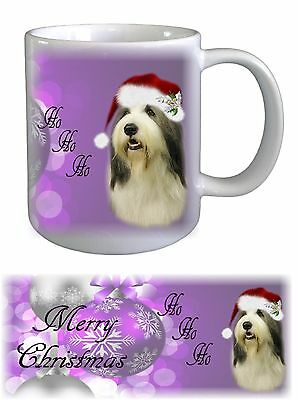 Bearded Collie Dog Christmas Ceramic Mug by Paws2Print
