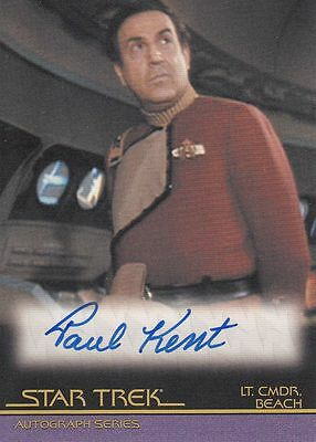 Star Trek Quotable Movies  A83 Paul Kent autograph