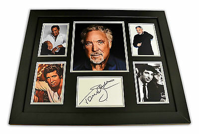 Sir Tom Jones SIGNED Photo Large Framed Delilah Memorabilia Autograph Display