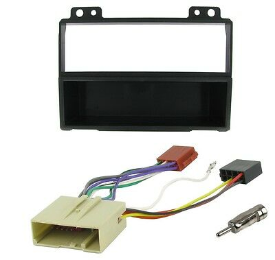 Ford Fiesta Mk6 2002-2005 Complete Single Din Radio Fitting Facia Kit and wiring