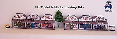 HO Scale Country Row Shops x 6 - Model Railway Building Kit - CRS2