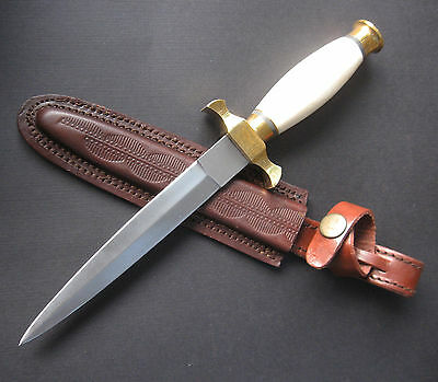 "Bone-Handled Renaissance Athame 10"" Double-Edged Steel Ritual Altar Knife"