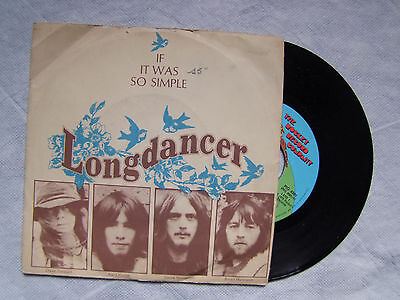 """LONGDANCER""""IF IT WAS SO SIMPLE, disco 45 giri, THE ROCKET RECORD CO."""""""