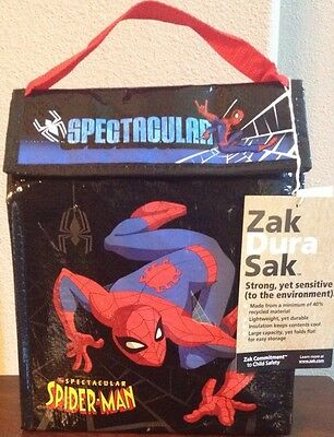 Spiderman Movie Lunch Sack Lunch Box Insulated Marvel Zak Brand LUNCH BAG BOYS
