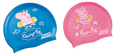 Zoggs PEPPA GEORGE PIG Silicone SWIM CAP Latex-Free KIDS 0-6YRS 382147 & 382148