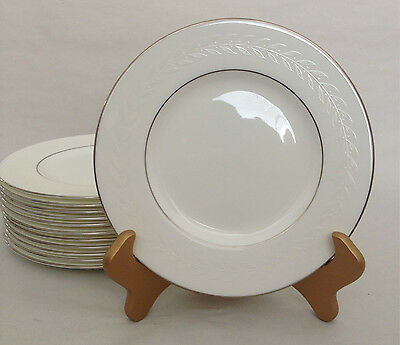 Stunning Minton SILVER LAUREL Salad Plate - 12 available