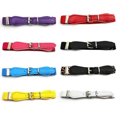 Adjustable Children's Kids Elastic Belt With Buckle Decoration Waistband Fashion