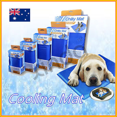 New Dog Cat Cool Bed Gel Mat Non-Toxic Cooling Summer Bed Pad 5 Sizes