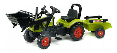Claas tractor kids + trailer with loader children 2-5 years new