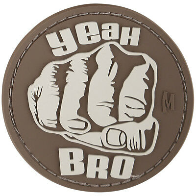 Maxpedition Cool Bro Fist 3D Pvc Rubber Badge Military Morale Patch Arid