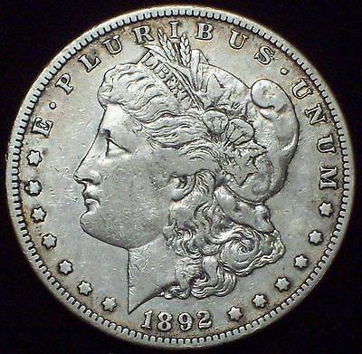 1892 S Morgan Dollar SILVER KEY DATE COIN High Grade Authentic XF Detailing