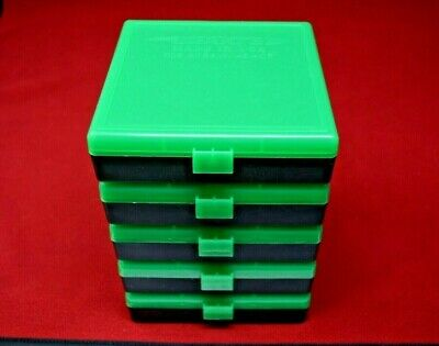 (5) 45 Acp / 40 / 10Mm Plastic Ammo Boxes (Zombie Green Color) Berry's Mfg