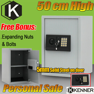 KENNER Personal Electronic Security Safe Box Access Safes Home Office 50cm BLACK
