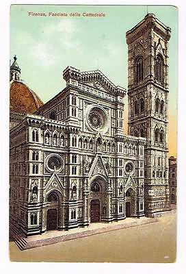 Vintage Postcard Italy 1900 ca. FIRENZE FLORENCE CATTEDRALE TUSCANY TOSCANA